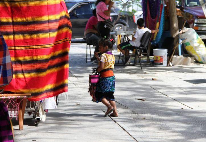 A nivel mundial hay 165 millones de infantes laborando en las calles. (Tomás Álvarez/SIPSE)