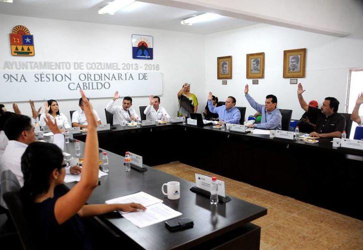 Realizaron la novena Sesión Ordinaria de Cabildo. (Cortesía/SIPSE)