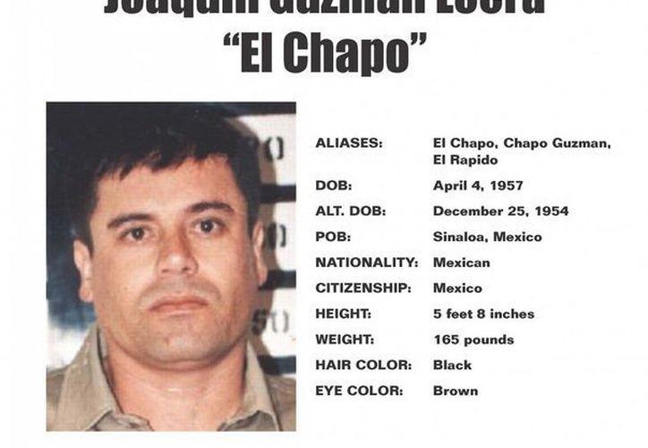 Poster donde se indica que 'El Chapo' Guzmán es considerado enemigo público número uno en Chicago, EU. (chicagocrimecommission.com)