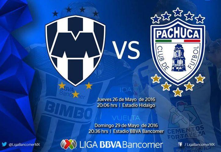 La final del futbol mexicano entre Monterrey y Pachuca ya tiene horarios. (Facebook: Liga MX)