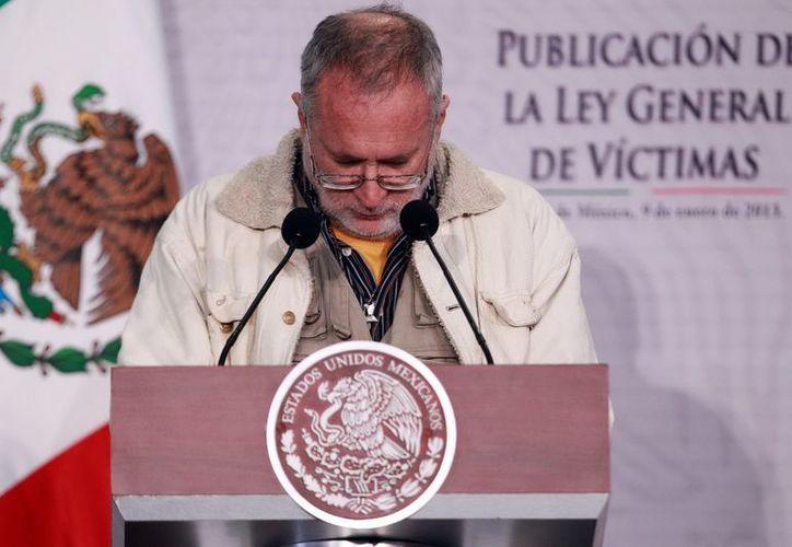 Sicilia indicó que la ley se ha trabajado durante 9 meses y que incluso se tomaron en cuenta las observaciones realizadas por Felipe Calderón. (Archivo/Notimex)