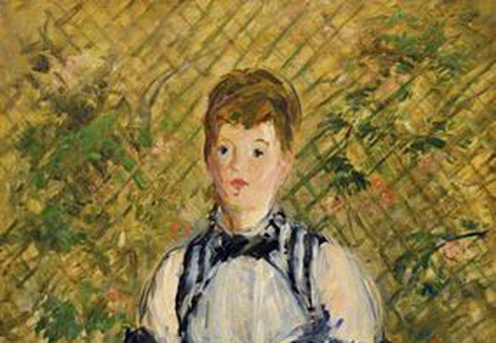 'Dama en traje de noche', de Manet, es una de las  numerosas obras de artes que han sido restauradas por subsidios del Bank of América. (AP)