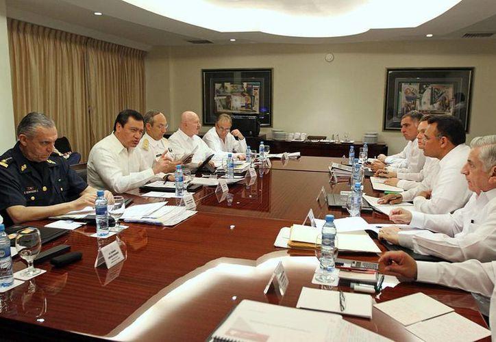 Aspecto de la reunión de seguridad en Mérida. (SIPSE)