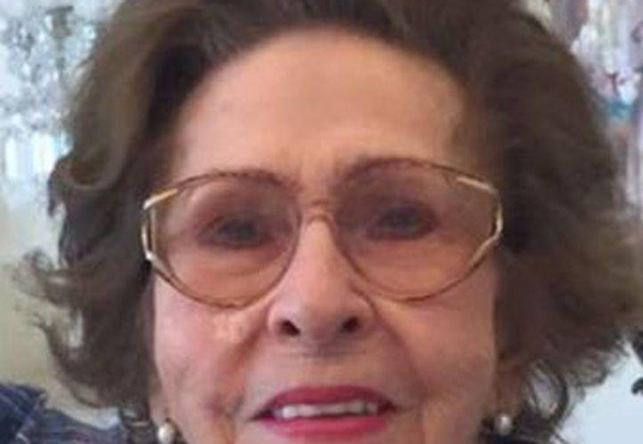 María Lucía Casares Espinosa, quien falleció  ayer en esta ciudad de Mérida. (Milenio Novedades)