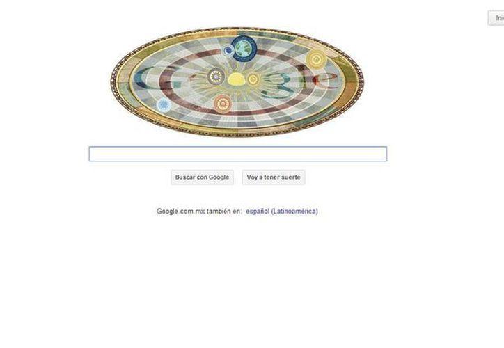 Google esta vez representa un limitado sistema planetario, con planetas y la Tierra incluida girando alrededor del sol. (google.com.mx)