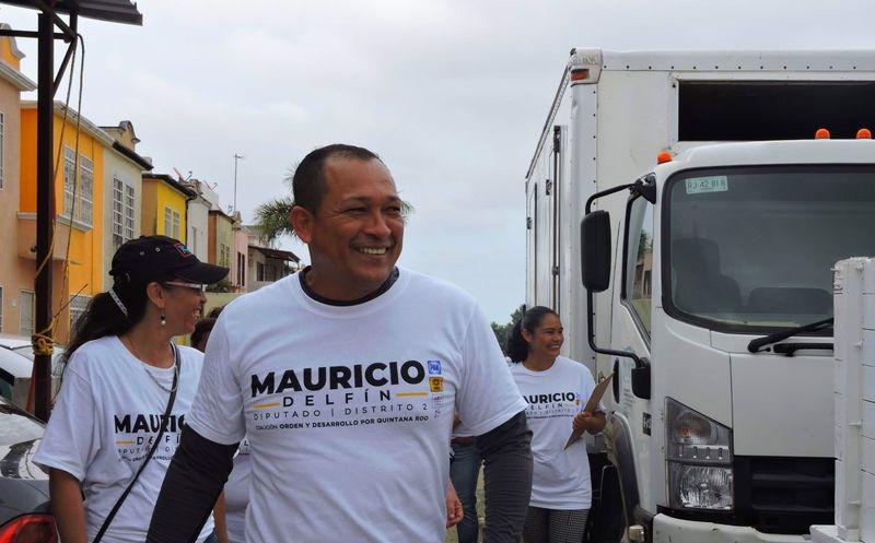 El candidato Mauricio Delfín Avendaño sustentó que trabajará para gestionar las demandas, y así mismo que exista  mayor seguridad en la locación.  (Redacción/SIPSE)