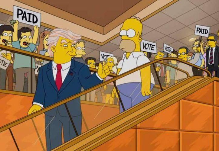 Según la serie animada 'Los Simpsons' Donald Trump será el  presidente de los Estados Unidos. (laprensa.hn)