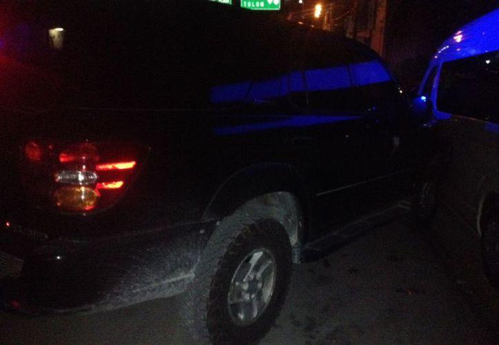 A las 11:10 de la noche del martes se reportó un hecho de tránsito en la avenida Gonzalo Guerrero con calle Venado. (Redacción/SIPSE).