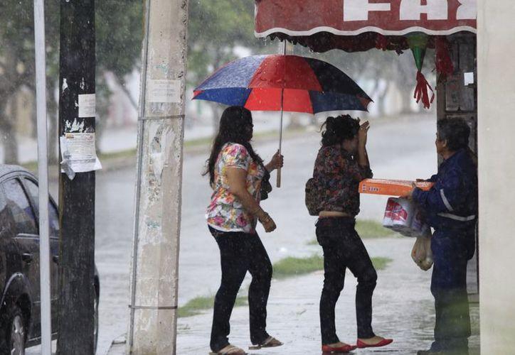 Aunque débil, el frente frío número 19 seguirá afectando la Península con lluvias leves. (SIPSE)