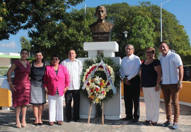 El homenaje en su CXXII Aniversario Luctuoso tuvo lugar este lunes en el parque de la colonia Pensiones 'Ermilo Abreu Gómez'. (Milenio Novedades)