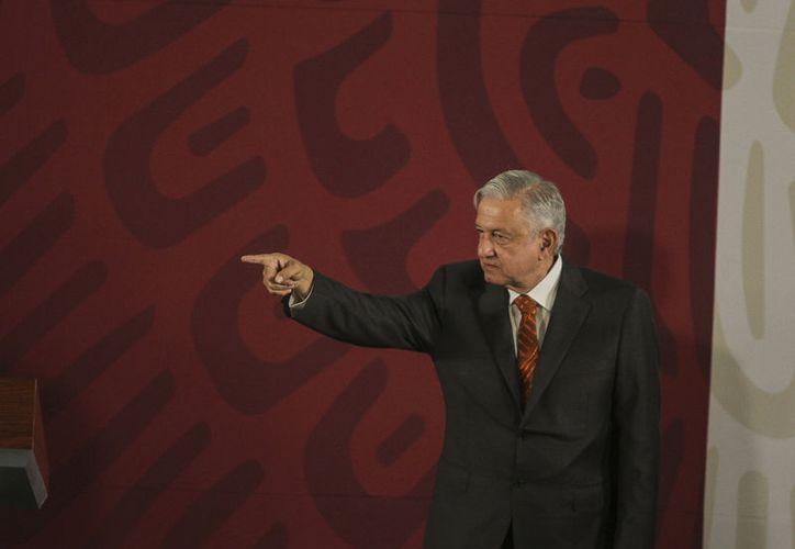 El Mandatario federal citó este mediodía en Palacio Nacional al Secretario de Comunicaciones y Transportes, Javier Jiménez Espriú. (Foto: Notimex-Gustavo Durán)