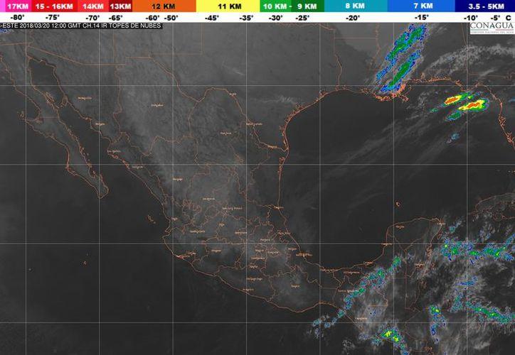Durante el día de hoy se esperan nubes matinales en Playa del Carmen. (Conagua)