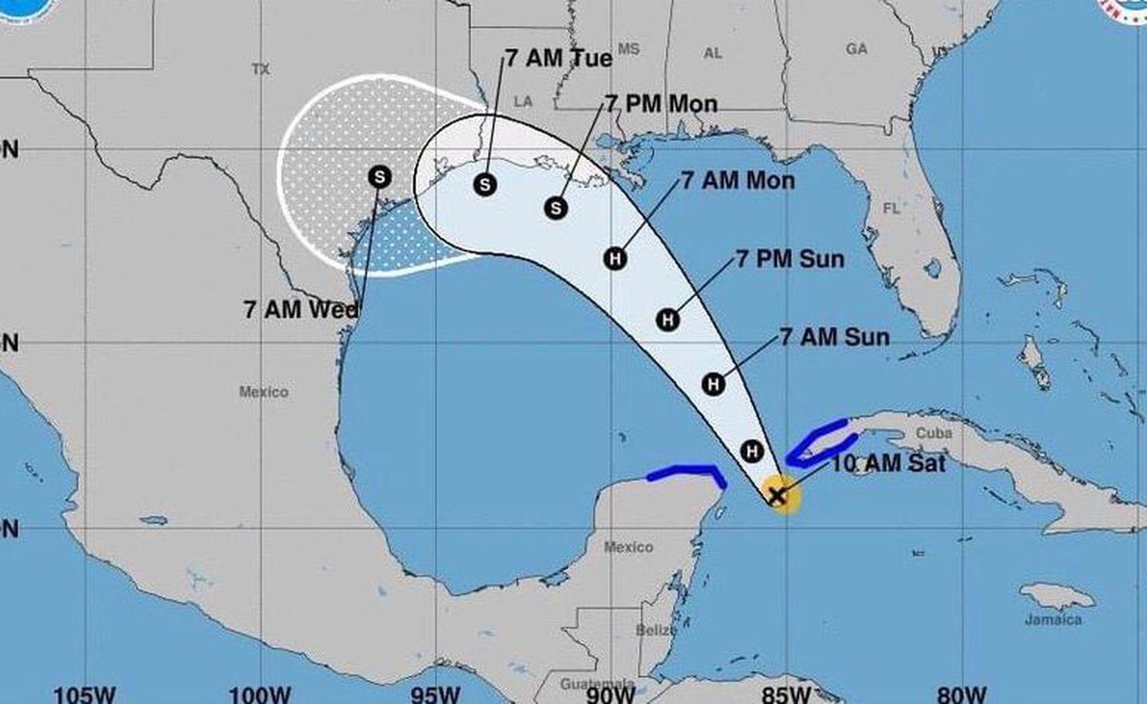 Tormenta Tropical 'Marco' afectará a Quintana Roo, Yucatán y Campeche