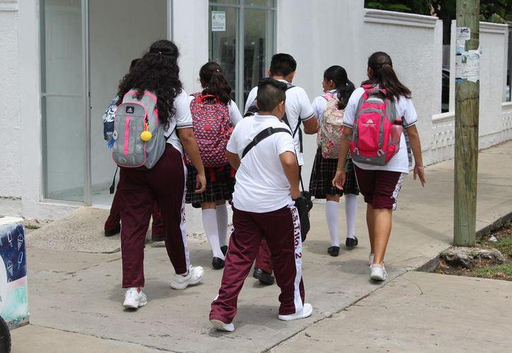 Los alumnos serán acreditados al siguiente curso escolar con el simple hecho de haber asistido a la escuela. (Joel Zamora/SIPSE)