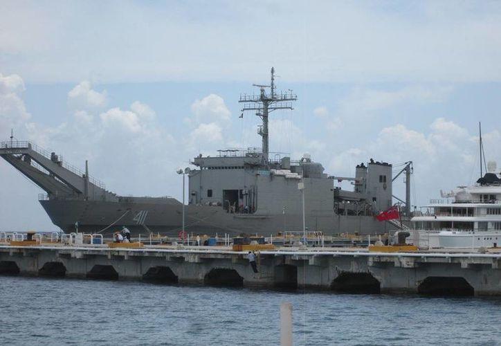 """Papaloapan"", arribó este miércoles a la isla de Cozumel. (Irving Canul/ SIPSE)"