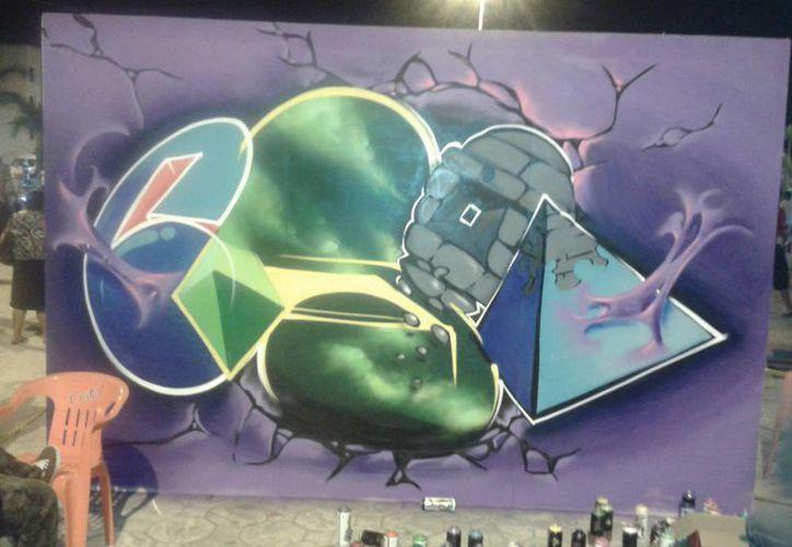 Hay más de 700 jóvenes graffiteros en Benito Juárez. (Israel Leal/SIPSE)