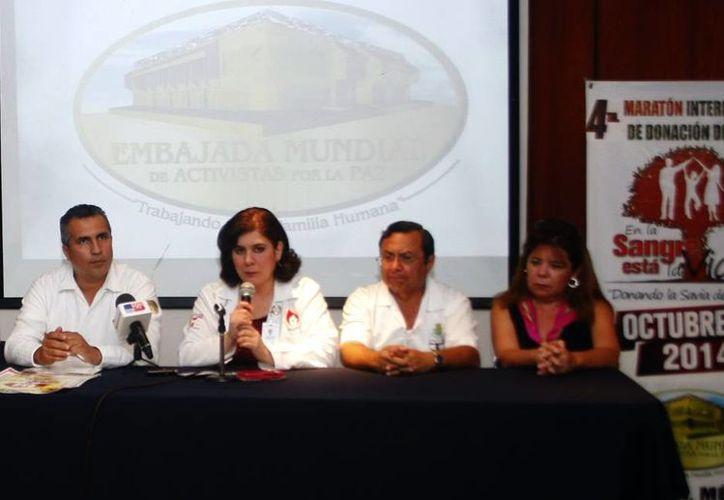 Presentan Cuarto Maratón Internacional de Donación de Sangre a realizarse este octubre en Mérida, Valladolid y Tizimín. (Christian Ayala/SIPSE)