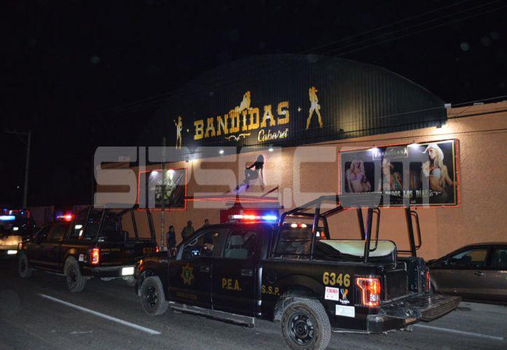 El operativo se realizó en centros nocturnos del periférico de Mérida. (C. Navarrete/ SIPSE)