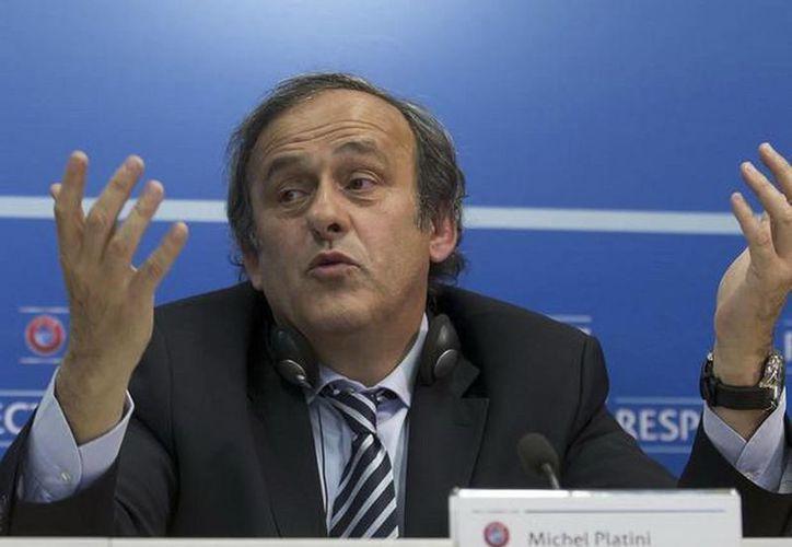 El presidente de la UEFA, Michel Platini, involucarado en el 'Qatargate'. (Agencias)
