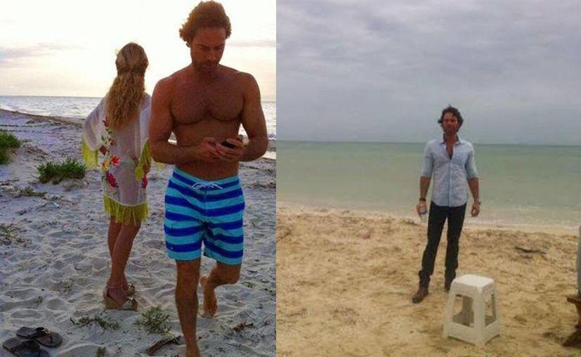Sebastian Rulli (Alejandro Almonte) y Angelique Boyer (Monserrat García) grabaron en playas de Progreso y Uaymitún. (Oscar Pérez/SIPSE)