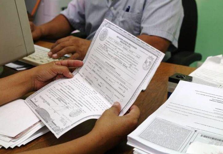 La ley del Registro Civil establece que el registro oportuno es hasta los 60 días de nacido, después se consideran extemporáneos. (SIPSE)