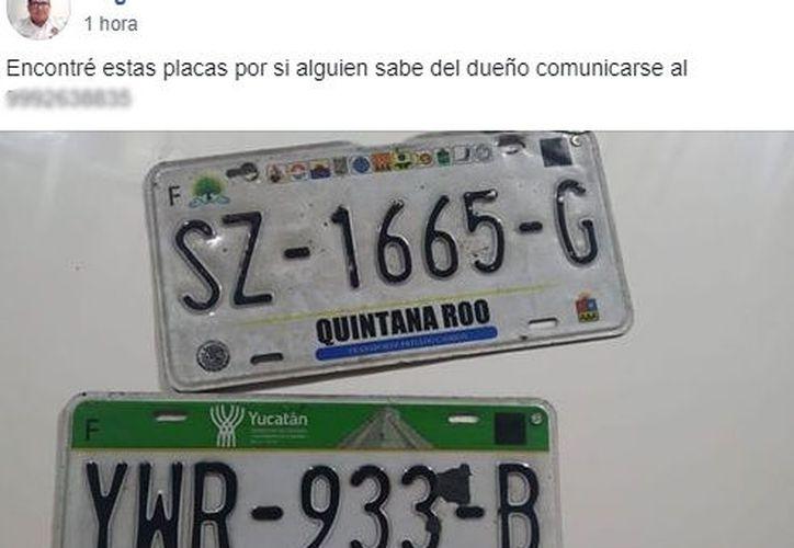 Decenas de automovilistas reportaron la pérdida de alguna de sus placas. (Facebook)