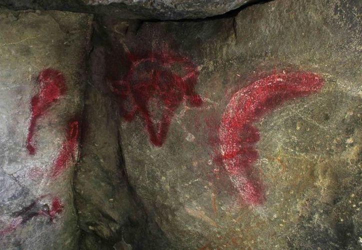 Los grabados dañados son la representación de bóvedas celestes y de un rito agrícola lunar, informó el antropólogo Guadalupe Reyes. (AP)