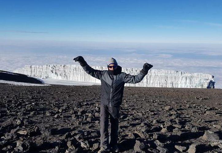 Escaló en compañía de su padre, el volcán Xitle. (Contexto)
