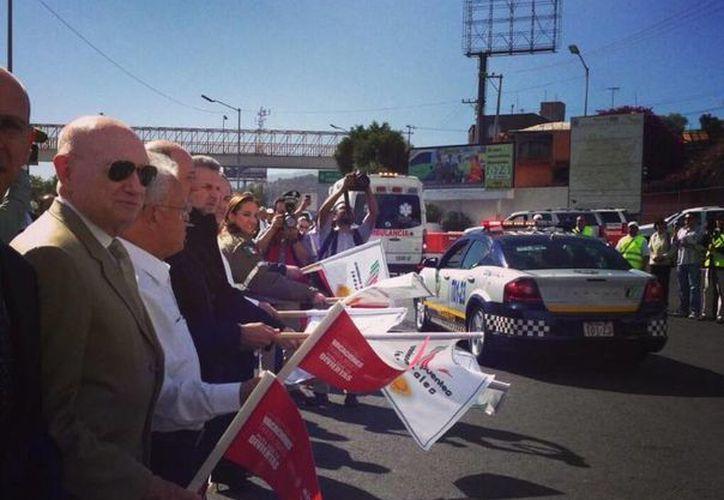 La secretaria de Turismo, Claudia Ruiz Massieu, dio el banderazo al operativo por Semana Santa. (twitter.com/ruizmassieu)
