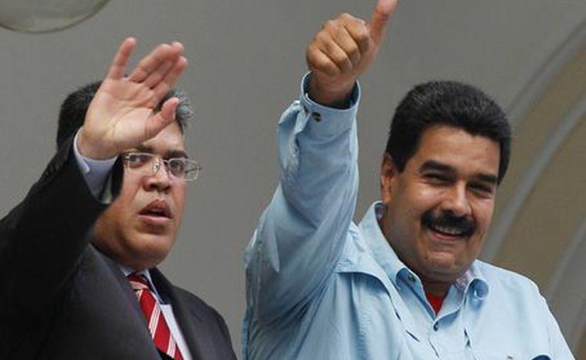 El presidente de Venezuela, Nicolás Maduro y el ministro de Relaciones Exteriores Elias Jaua. (Agencias)