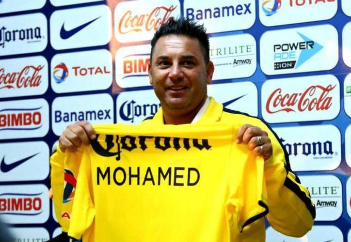 """""""Hoy me toca ser DT de América y voy a defender esta playera a muerte"""", declaró Antonio Mohamed. (Facebook/Club América)"""