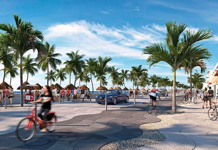 El malecón tradicional ofrecerá nuevos atractivos para los visitantes. (Novedades Yucatán)