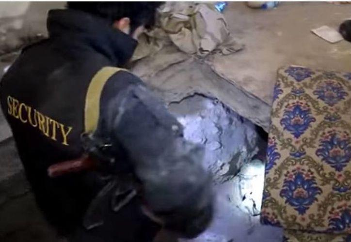 La red de túneles construidos por el Estado Islámico se encontraron en la ciudad de Sinjar. (YouTube)