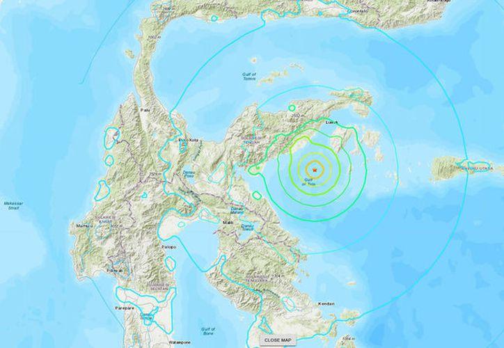 Un sismo de 6.8 de magnitud se registró este viernes en Indonesia. (earthquake.usgs.gov)