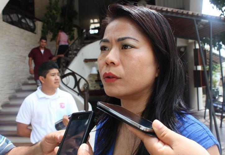 Kit Bing Wong fue entrevistada después de una reunión. (Loana Segovia/SIPSE)