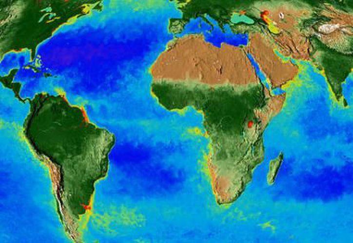 El video muestra los casquetes polares y la cubierta de nieve creciendo o menguando con el paso de las estaciones. (Foto: Captura de video)