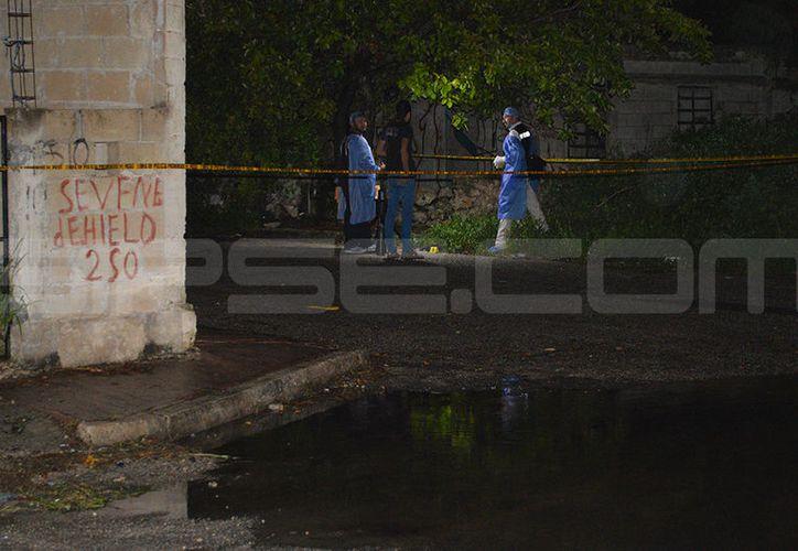 El homicidio ocurrió en la colonia El Roble Agrícola. (Carlos Navarrete/SIPSE)