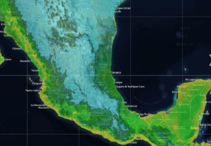 Los vientos oscilarán en los 14 kilómetros por hora en Cancún. (Intellicast)