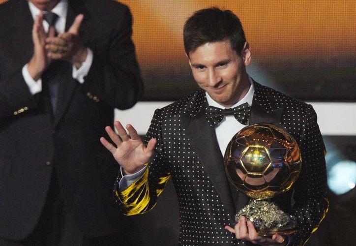 Lionel Messi se convirtió en el máximo ganador del Balón de Oro en la historia. (Agencias)