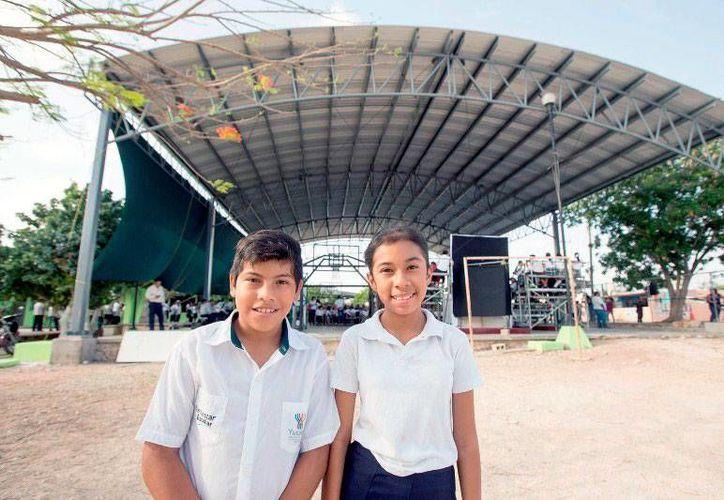 Alumnos de 2 escuelas primarias de Mérida ya pueden realizar actividades al aire libre sin peligro de insolación: techaron las plazas cívicas de los planteles. La imagen es de contexto. (yucatan.gob.mx)