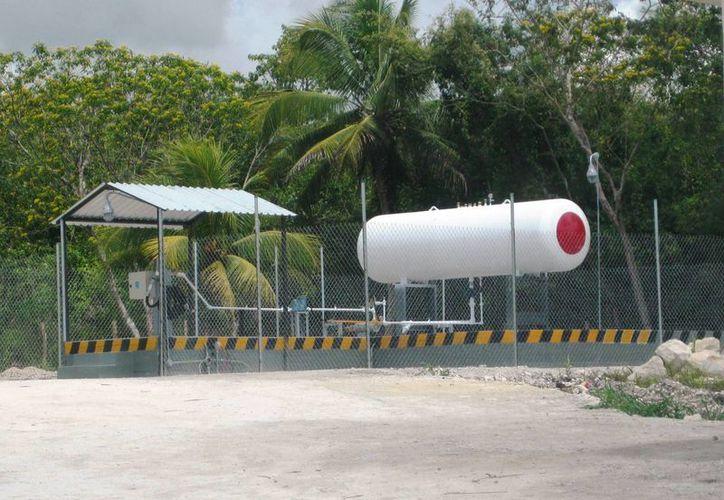 La empresa Gas Imperial ya cuenta con un tanque de almacenamiento de tres mil litros. (Javier Ortiz/SIPSE)