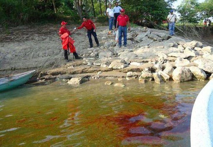Más de 200 mil personas se han visto afectadas por la falta de agua por la contaminación en dos ríos. (@ProcivilTabasco)