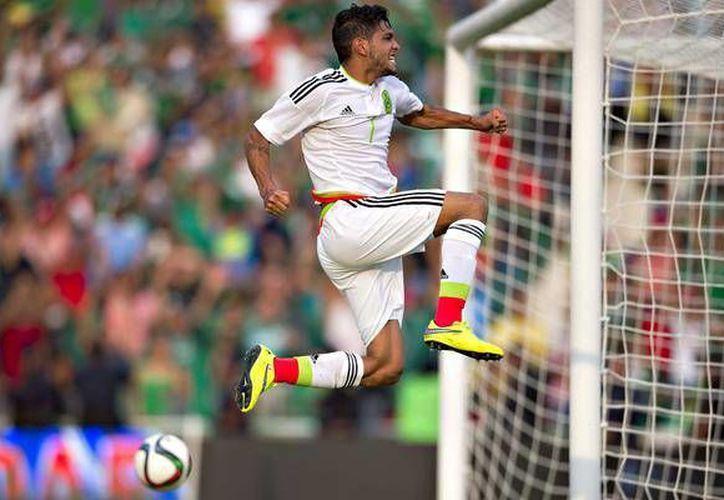 México derrotó sin problemas a la Selección de Guatemala por marcador de 3-0. (Fotografía tomada de Twitter). (AP)