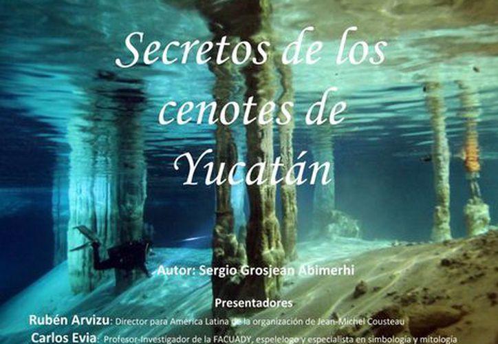 El libro muestra el misterio de los cenotes y la crudeza de su contaminación. (Milenio Novedades)