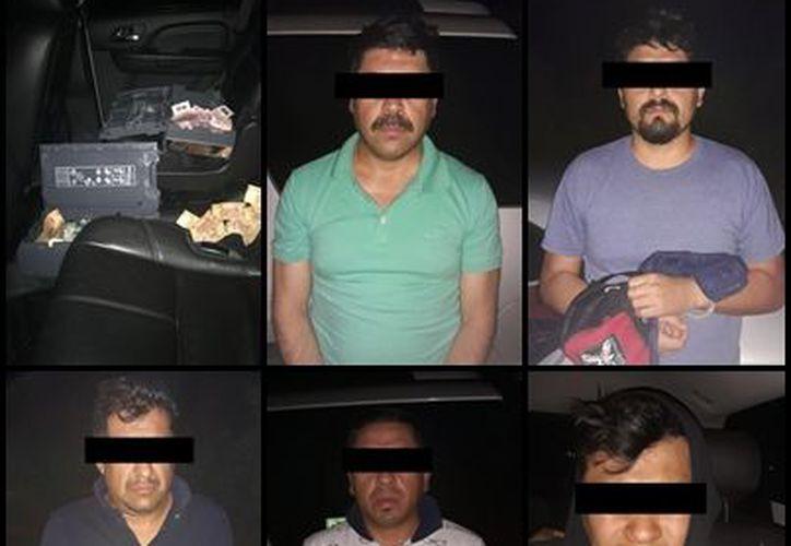 En el cajero de la avenida Zamná contaba con 867 mil 900 pesos, y al momento de la aprehensión se recuperaron alrededor de 130 mil pesos. (SIPSE)