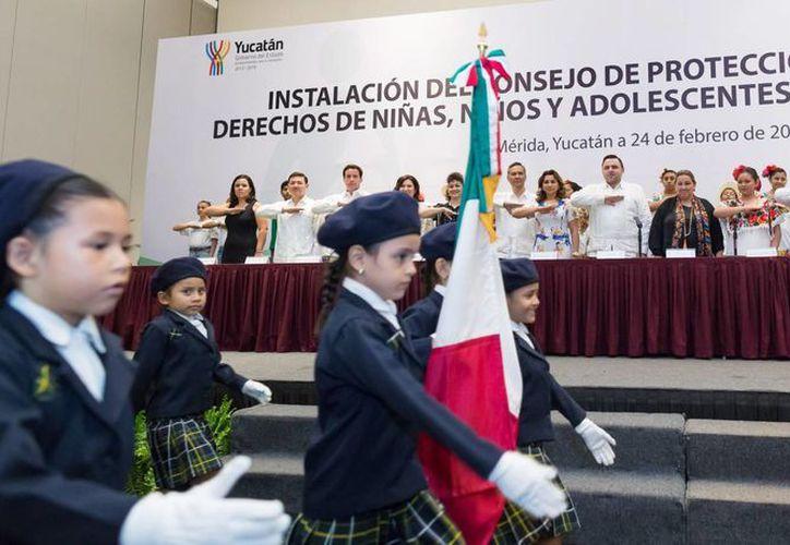 Este miércoles se llevó a cabo la instalación del nuevo Consejo de Protección Integral de los Derechos de Niñas, Niños y Adolescentes del Estado de Yucatán. (Foto cortesía del Gobierno de Yucatán)