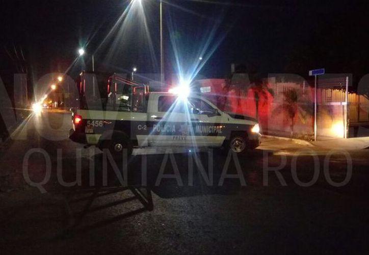 Las autoridades acordonaron el área. (Eric Galindo/ SIPSE)