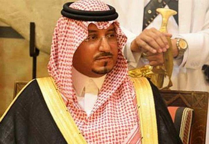 Príncipe saudí Mansur bin Maqran, vicegobernador de la provincia de Asir. (Excelsior)