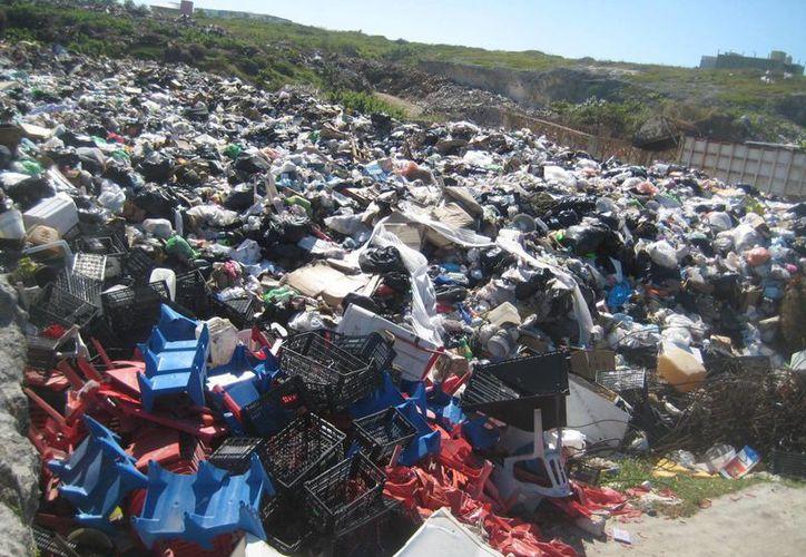 Por fallas en las unidades que trasladan la basura a la zona continental, se acumularon tres mil 500 toneladas. (Lanrry Parra/SIPSE)