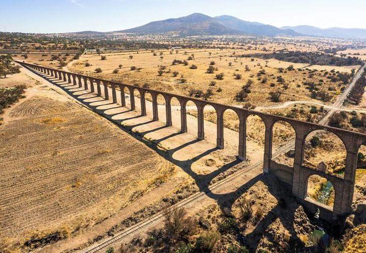 El Acueducto del Padre Tembleque se ubica entre los estados de México e Hidalgo. (Notimex)